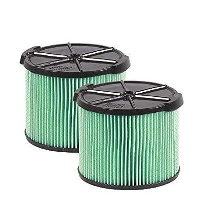 WORKSHOP Wet Dry Vacuum Filters WS13045F2 HEPA Media Filter For Shop Vacuum Cleaner (2-Pack - HEPA Media Filter For Wet Dry Vacuum Cleaner) Fits WORKSHOP 3-Gallon to 4-1/2-Gallon Shop Vacuum Cleaners
