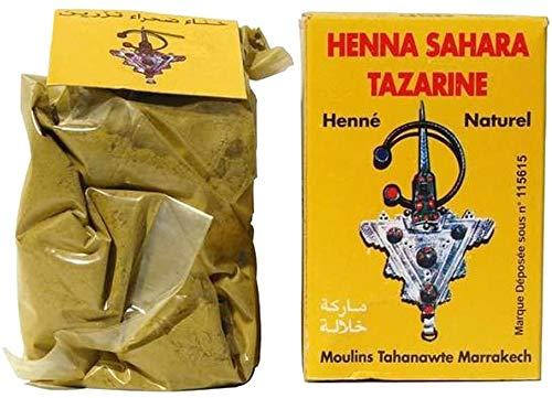 henne mains henne cheveux : henne naturel henne sahara tazarine ( une paire de gant offert)