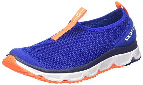 Salomon RX Moc 3.0, Zapatillas de Senderismo para Hombre, Azul Oscuro/Naranja (Surf The Web/White/Shocking Orange), 42 2/3 EU