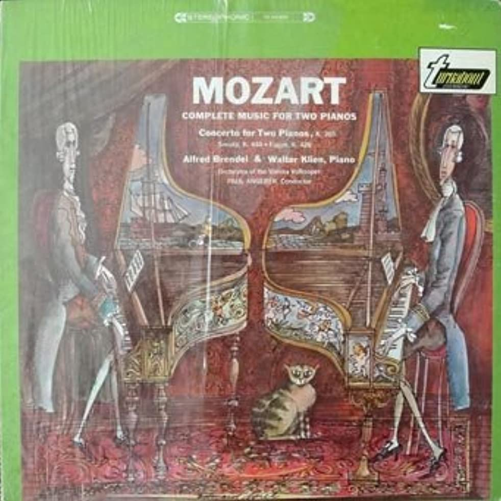 Mozart Complete Music for Two Pianos - Concerto for Two Pianos, K. 365, Sonata, K. 448 - Fugue K. 365 / Alfred Brendel, Walter Klien, Orchestra of the Vienna Volksoper, Paul Angerer, Conductor