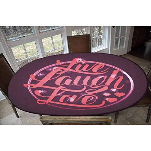 LCGGDB Mantel ajustable de poliéster elástico, con estampado de círculo, estilo vintage y romántico, ideal para mesas de hasta 48 pulgadas de ancho x 68 pulgadas de largo.