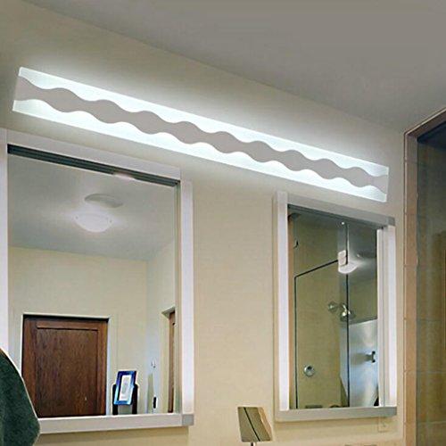 Longless spiegel acryl farihotel wandlamp LEDlo badkamerspiegel koplamp voorzijde 100 x 9 x 4,5 cm 48 W