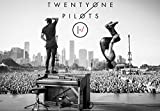 Rock-Poster 21 BlurryFace Posters and Prints Unframed Wall Art Gifts Decor - Tyler shoots and Josh Back Flips off Tyler's Piano 16x25'
