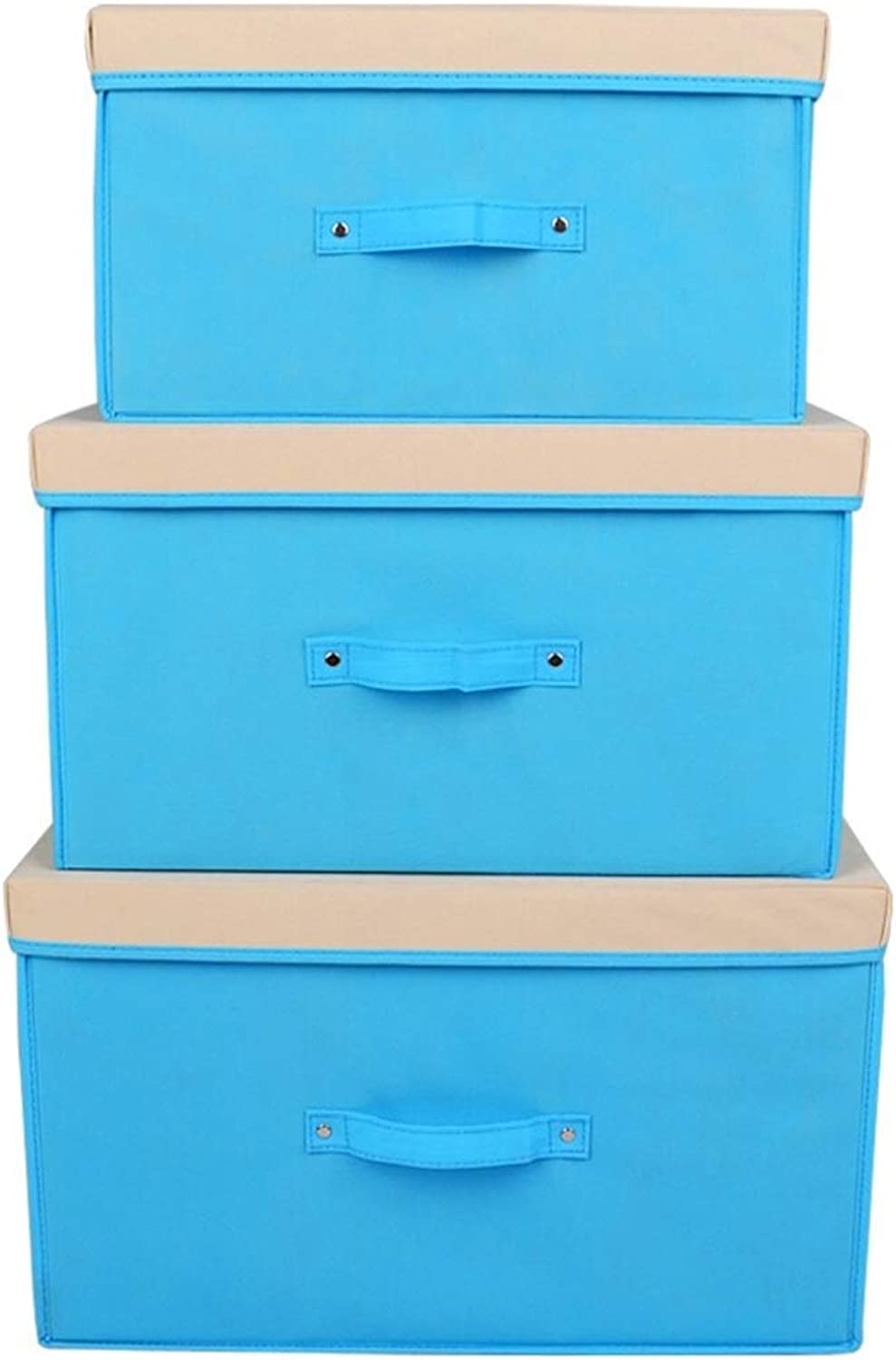 Storage Box Storage Bins Baskets Toy Box Home Containers Cubes Bin Box Gift Baskets Storage Ches-Dot Simple Non-Woven Folding Large Capacity JINRONG (color   bluee, Size   30  40  25cm)