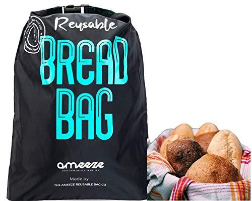 AMEEZE Sac à pain réutilisable en polyester recyclé certifié Öko-Tex 100 – résistant,...