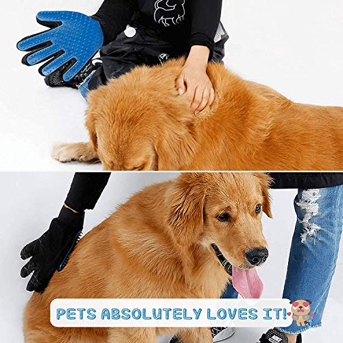 Product Image 2: PICKVILL Efficient Pet Hair Remover Mitt Enhanced 5 Finger Design Gentle Deshedding Brush Gloves for Dogs with Long and Short Fur (Multicolour)