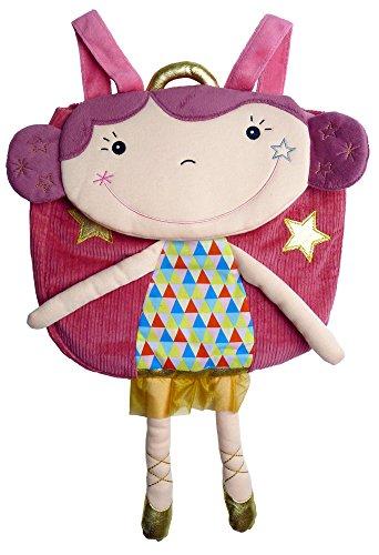 EBULOBO - Sac A Dos Betty la Funambule - 46 cm -Collection Magic Circus - Personnalisable avec le Nom de L'Enfant sur étiquette - Lavable en Machine à 30° - Dès 1 ans - Sangles Réglables en Longueur - Fermeture par Velcro
