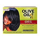 ORS Olive Oil Built-In Protection Full Application No-Lye Hair Relaxer - Extra Strength Kit (Pack of 1)