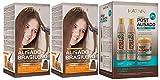Kativa Kit de lissage brésilien x2 + post-lissage (shampooing, revitalisant et masque)