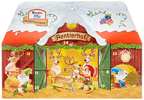 Kinder Mix Adventskalender 3D Haus Rentierhof (1x234g)