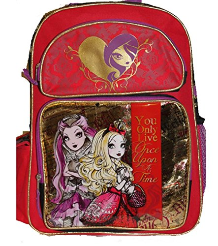 Ever After High Backpack Apple White Raven Queen School Bag New 090184