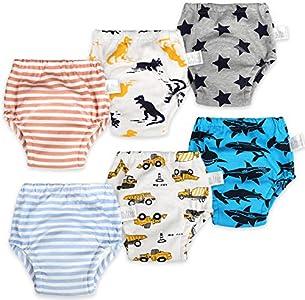 Pantalones de entrenamiento para bebés Ropa interior de entrenamiento para niños Ropa de entrenamiento para ir al baño para niños Ropa interior de entrenamiento para inodoro para bebés 2 años/2T/90