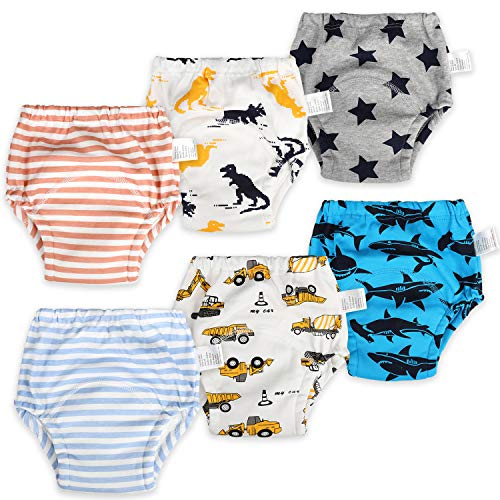 FLYISH DIRECT Pack of 6 Baby Training Pants Kids Training Underwear Toddler...