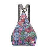 Black Butterfly Original Women's Bohemia National Style Canvas Backpack Shoulder Bag (small) (K)