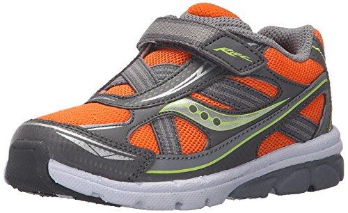 Saucony Boys' Baby Ride Sneaker (Toddler/Little Kid), Orange/Grey, 6.5 M US Toddler