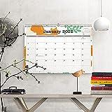 2021-2022 カレンダー 2021年 9月 2022年 12月 壁掛けカレンダー 厚い紙付き 16か月間壁掛けカレンダー 整理と計画に最適 美しく素敵な外観 8.3x11.1インチ ワイヤー綴じ