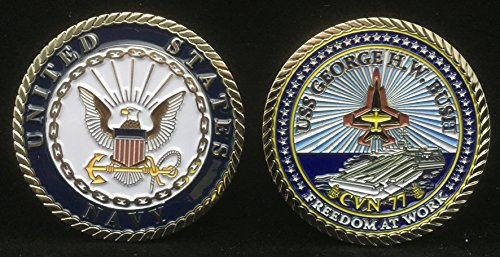 USS George Bush CVN 77 (Enlisted) Challenge Coin