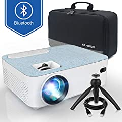 【BRIGHT COLOR PROJECTOR】 70% brighter than other projectors. This mini projector adopts the latest 4.0 LCD display technology with advanced LED light sources. Brighter imagemakes happier viewing experience. 【AMAZING MOVIE EXPERIENCE】Support 1080P fu...
