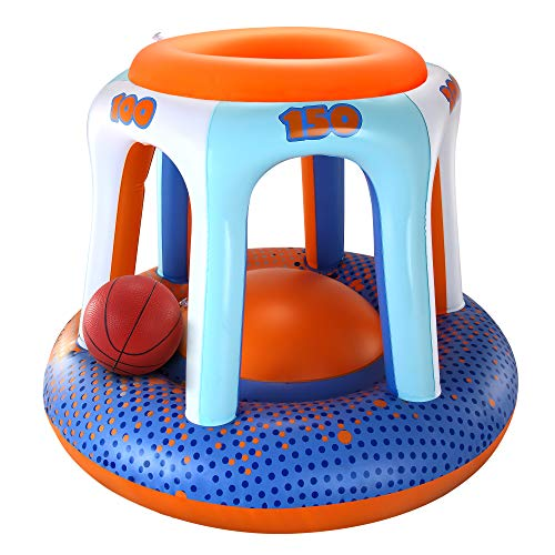 JOYIN Swimming Pool Basketball Hoop Set - Fun Swimming Pool Accessories with Ball, Best Swimming Pool Games for Kids and Adults, Birthday, Parties, Party Favors and Outdoor Fun