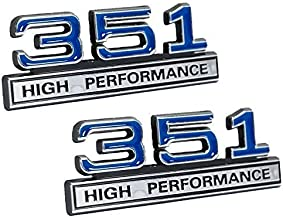 351 5.8 Liter Engine High Performance Emblems in Chrome & Blue - 4