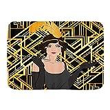 LOSUMIGE Alfombra de Baño para, Flapper Girl Set Retro Women of Twentiesgatsby Great Speakeasy 1920S Art Classic, Alfombrillas de baño Antideslizante de Espuma de Memoria Suave, 75CM x 45CM
