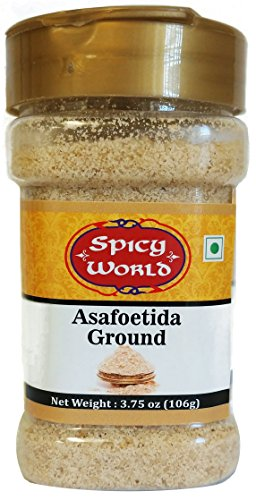 Asafoetida (Hing / Heeng) Ground Powder, 3.75 oz (106g) - All Natural & Non GMO - by Spicy World
