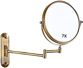 LLSS الرئيسية فانيتي مرآة خلع طاولة ماكياج مرآة الحائط الحائط مرآة الحلاقة التجميل التمديد طوي مزدوجة الوجهين 7 × مرايا ال...