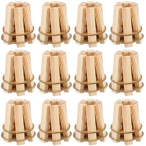 COM-FOUR® 12x aansteker- en grillaansteker van hout - ecologische en geurloze aansteker voor haarden - snel, gemakkelijk en effectief