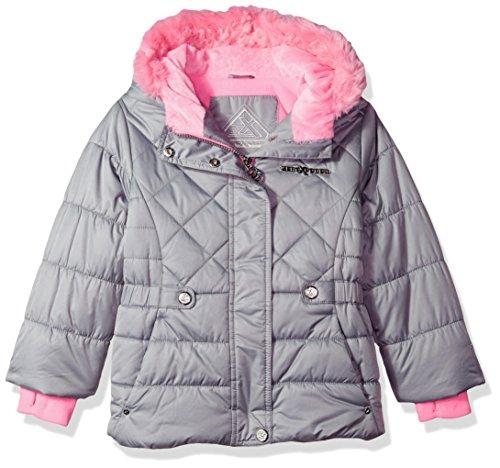 ZeroXposur Little Lexy Jvi Girls Puffer Jacket, Metal, Small