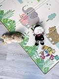 Kinderteppich Baby Spielmatte 200x180x1,5cm. Wendefähige und ungiftige dicke faltbare wasserdichte Schaumstoff Babymatte. Krabbelmatte Spiel-Teppich Bodenmatte Kinder-matte Großformat SUPERBE BEBE® - 6