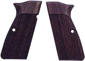 Hogue Hunting Grip Browning Hi Powers, Checkered Rosewood