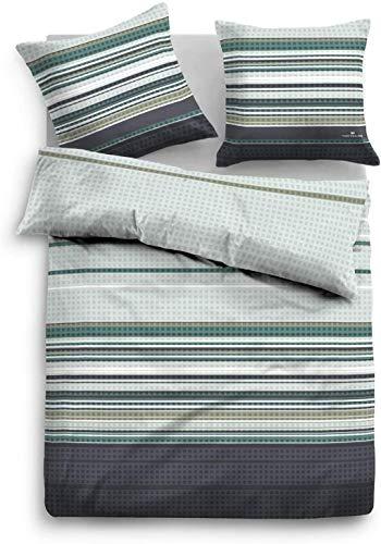 TOM TAILOR 0009887 Parure de lit en Flanelle avec taie d'oreiller Coton Menthe 200 x 200 cm + 2 taies d'oreiller 80 x 80 cm