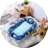 Colchones para niños Bionic cama portátil cómoda cama nido cama en cama dormitorio infantil cuna cama con cambiador (color: E, tamaño: 55 x 90 cm)