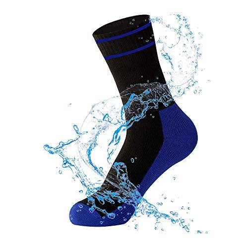 WATERFLY wasserdichte Ultraleichte Atmungsaktive Kniestrümpfe Socken zum Angeln Wandern Klettern Joggen Discgolf und für Motorrad Trips Sport (L)