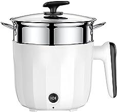 Pot Chaude électrique, poêle antiadhésif, cuisinière électrique Multifonction avec Vapeur, poêle électrique de 1,3L Mini a...