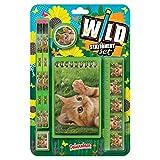 Wild Stationery Set - Gatito de Deluxebase. Este bonito set de papelería para chicas incluye 2 lápices, goma de borrar, sacapuntas, regla y cuaderno