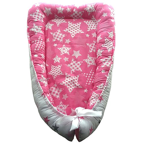 Fantastic Deal! Double-Sided Baby nest, Baby Nest Pink, Newborn Sleep Bed, Cocoon-Cradle, Newborn Ba...