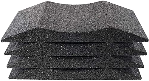 Haskyy 4X Reifenschuh Reifenschoner Reifenbett Reifenwiege aus Gummigranulat 200mm breit bis 185er Reifen