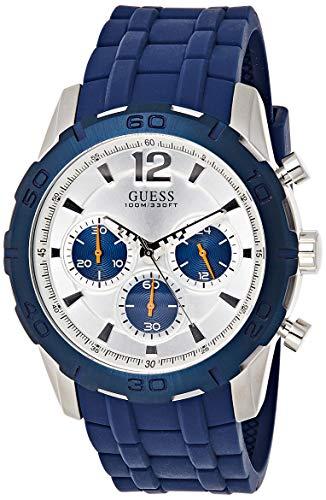 Guess heren chronograaf kwarts horloge met siliconen armband W0864G6