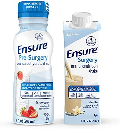 Ensure Surgery Perioperative 5 Day Bundle with 3 Ensure Pre Surgery Clear Carbohydrate Drinks product image