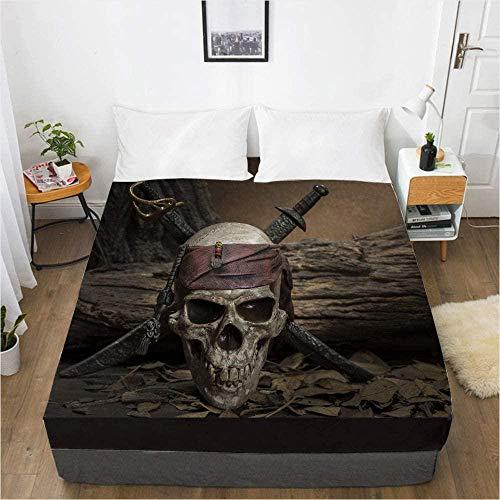 Bedclothes-Blanket Literie de crâne de Housse de Protection de Matelas d'impression numérique 3D-200 x 220_12
