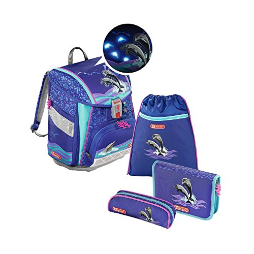 Step by Step Touch 2 Flash Happy Dolphins Schulranzen Set 4tlg.