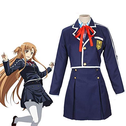 Sword Art Online SAO Yuuki Asuna Uniforme escolar Abrigo Camisa Falda Traje de Anime Disfraces de Cosplay
