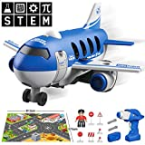 YIER Take Apart Toys Electric Airplane with Electric Drill – Convertible to Remote Control Aircraft, 2 in 1...