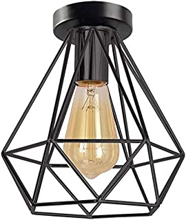 Topdécoré Retro Industrial Lámpara de techo de interiorTecho de Metal Lámpara de Estilo Vintage Decorativa Salon Comedor ...