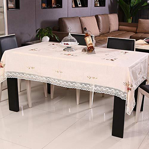 ZZHU doek tafelkleed lint geborduurd pastorale salontafel doek strak minimalistische tafelkleed