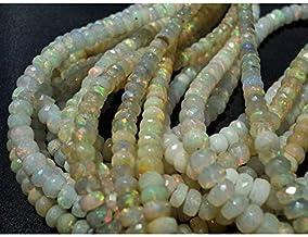 36.95 Carat Natural Ethiopian Welo Fire Opal Smooth Plain Roundel Beads Single Strand  JP92