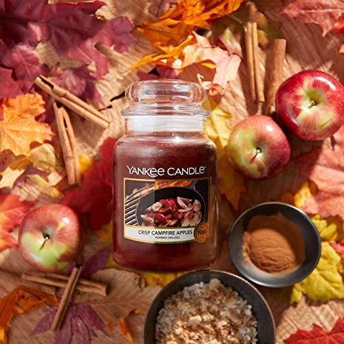 Yankee Candle Candela profumata in giara piccola Mele Croccanti sul Fuoco, durata: fino a 30 ore, 104 g