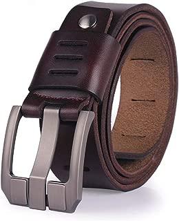 Men Belt Cowhide Genuine Leather Belts Male Pin Buckle Jeans Cowboy Luxury