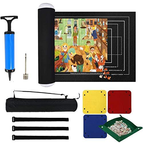 EXTSUD Tapis de Rangement pour Puzzle jusqu'à 3000 Pièces, Tapis de Rouleau de Puzzle en Feutre Portable, Accessoire pour Puzzle, Support pour Puzzle